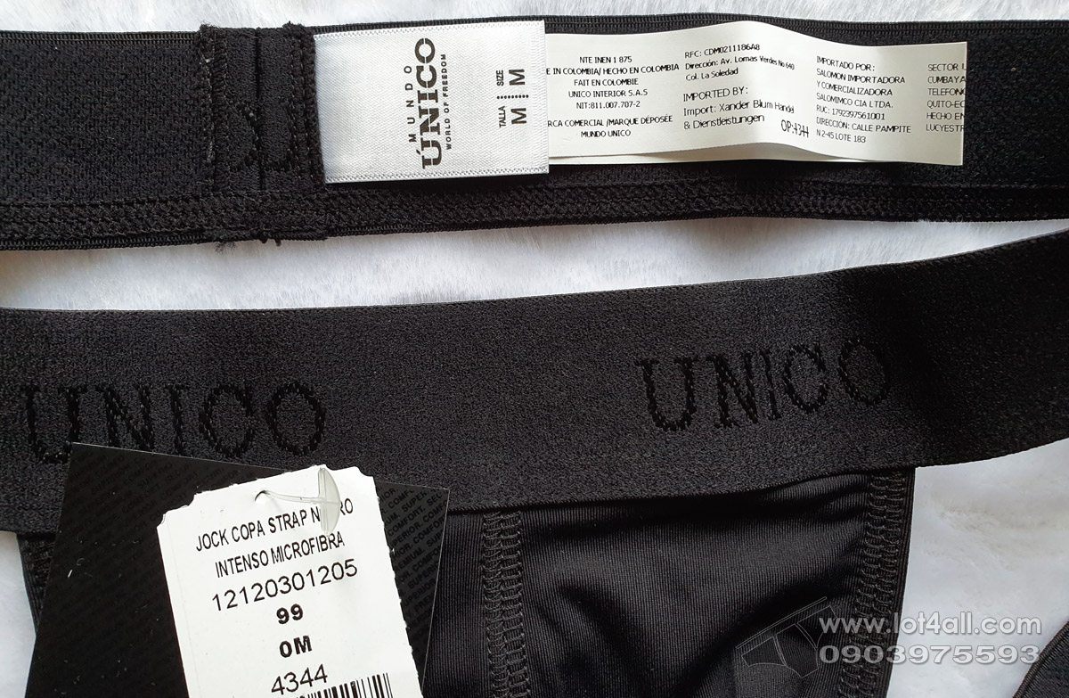Quần lót nam Mundo Unico 1200020399 Cristalino Microfiber Jockstrap Black