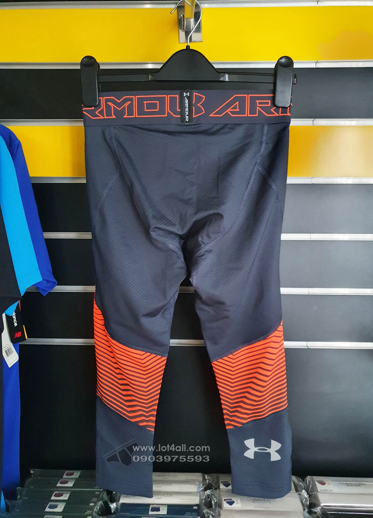 Quần lót nam Under Armour Coldgear Reactor 3/4 Legging Stealth Gray