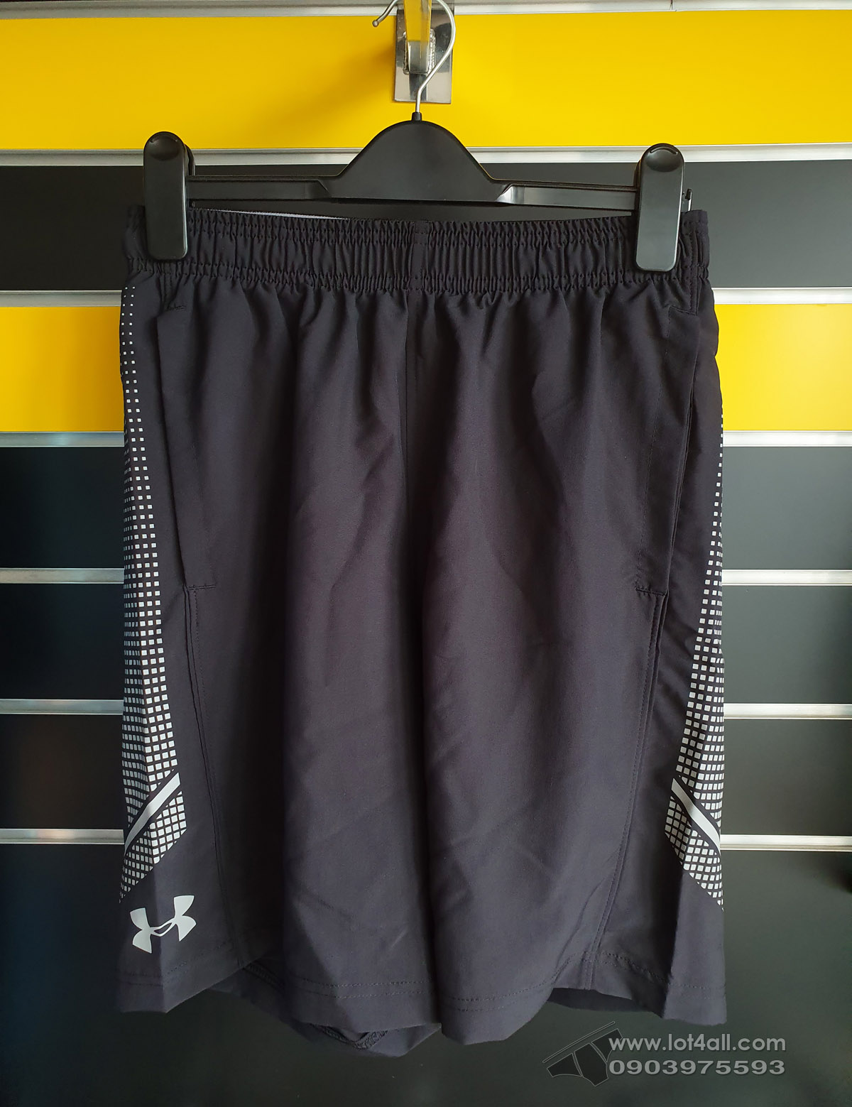 Quần short nam  Under Armour Woven Graphic Black/Steel