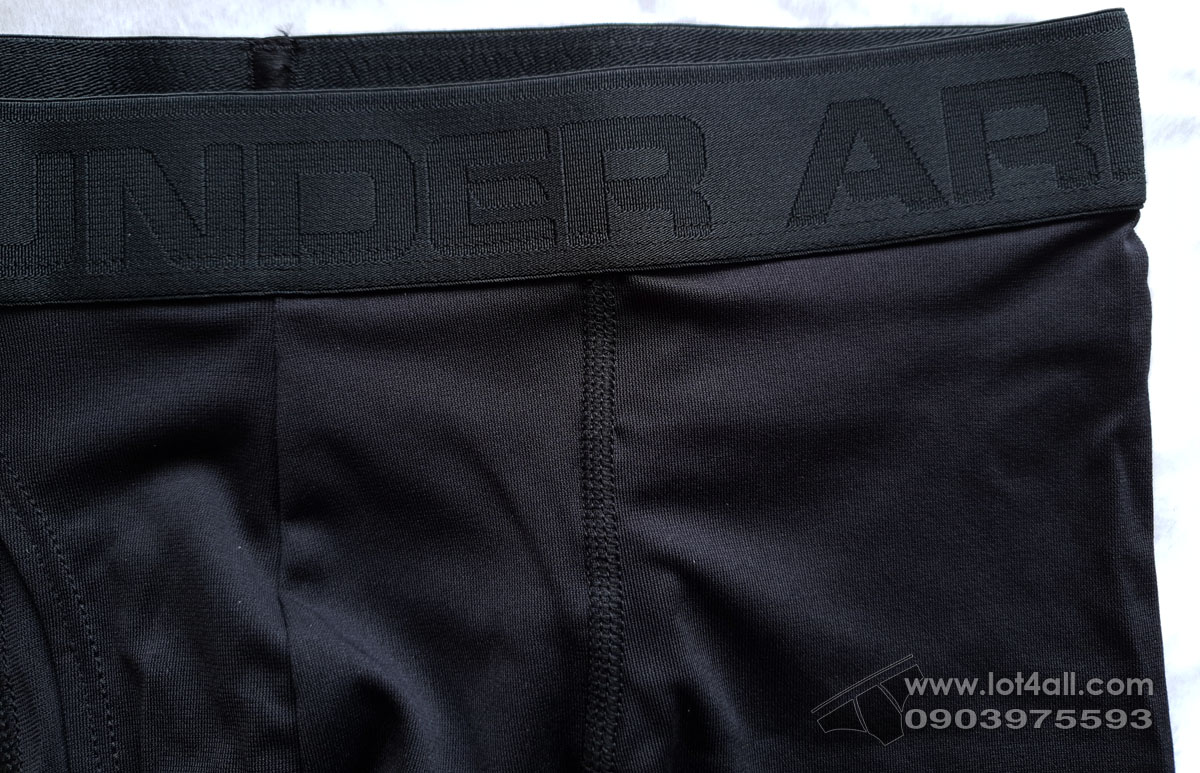 "Quần lót nam Under Armour Threadborne Microthread 9"" Boxerjock Black/Black"