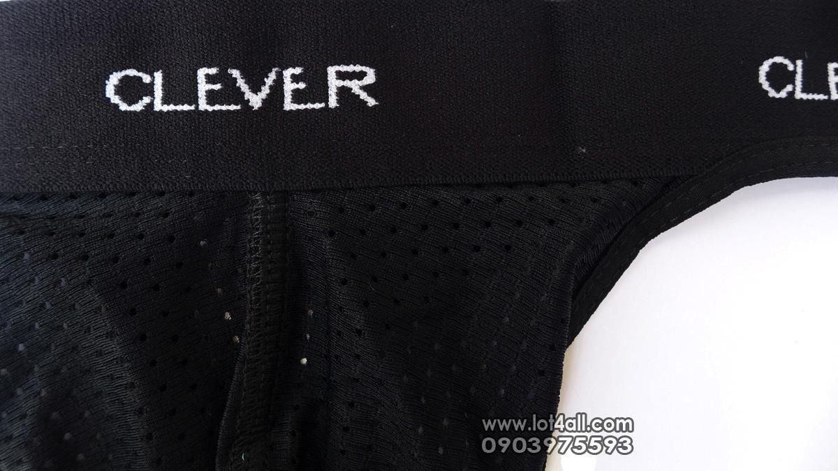 Quần lót nam Clever 0001 Mesh Thong Black