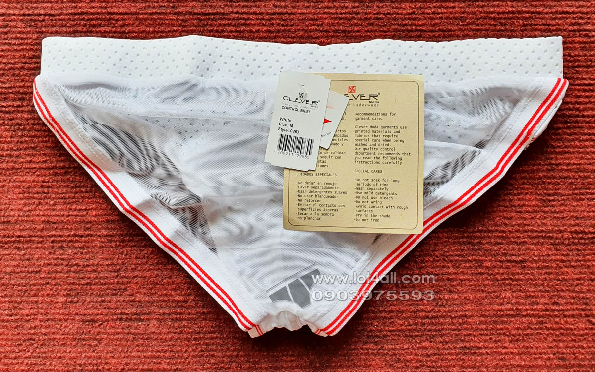 Quần lót nam Clever 0263 Control Latin Brief White