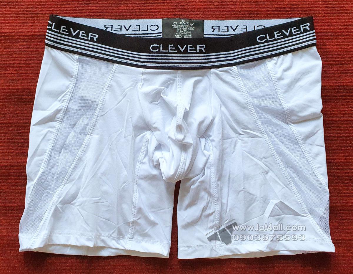 Quần lót nam Clever 0269 Cautious Boxer Brief White