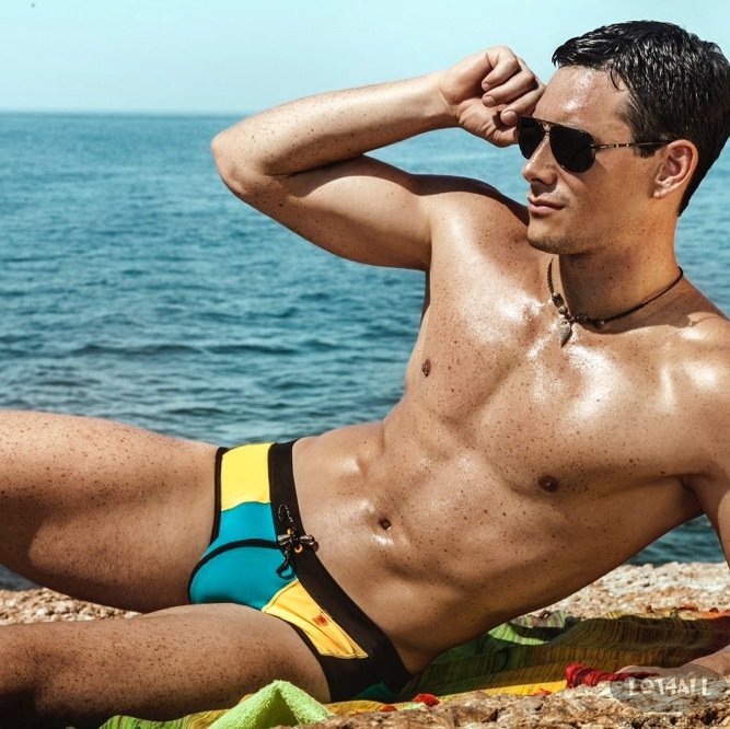 Quần bơi nam cao cấp Clever 0579 Buzios Swimsuit Brief Color Blue-Yellow