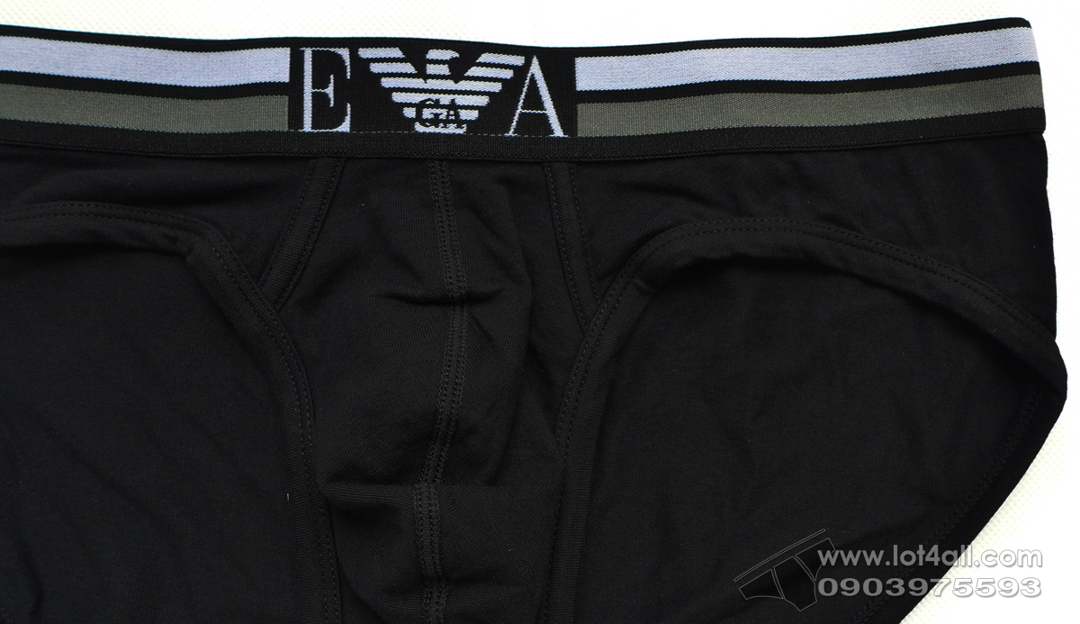 Quần lót nam Emporio Armani Stretch Cotton Rugby Player Brief Black