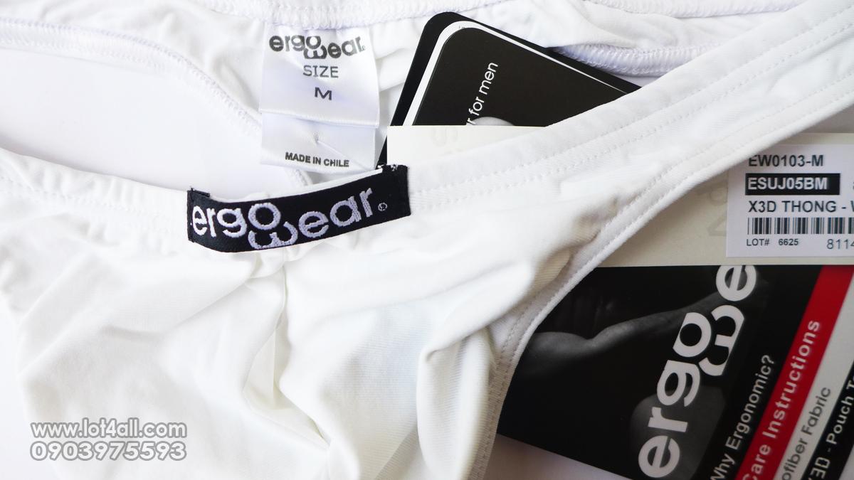 Quần lót nam cao cấp Ergowear 0103 X3D Thong White