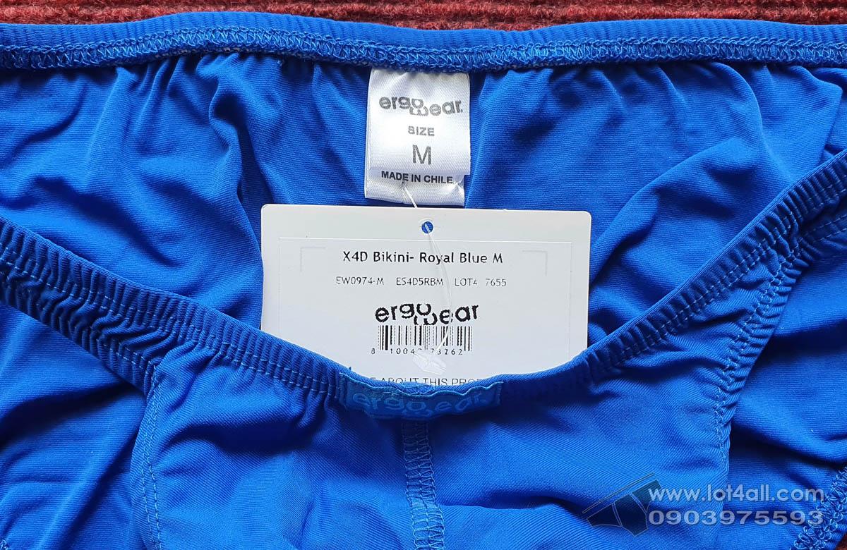 Quần lót cao cấp ErgoWear 0974 X4D Bikini Royal Blue