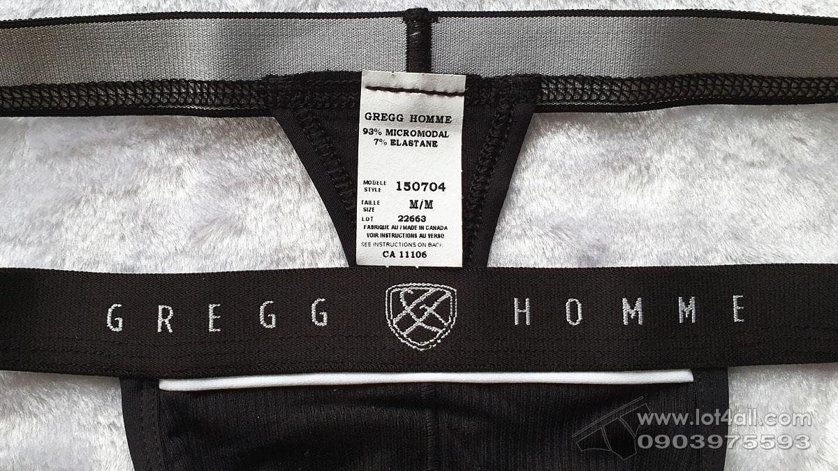 Quần lót nam Gregg Homme 150704 Menz Ribbed Modal Thong Black