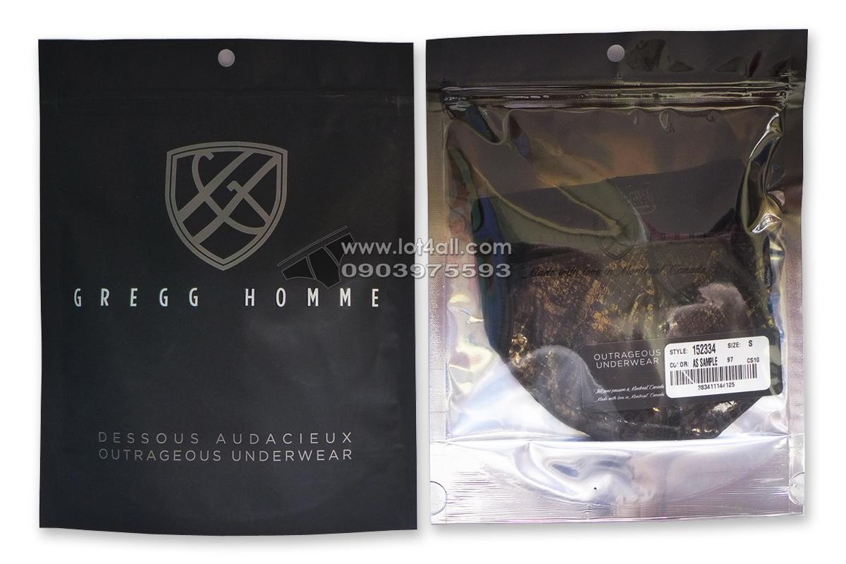 Quần lót nam Gregg Homme Century Snake Printed Mesh/Foil Jockstrap Black