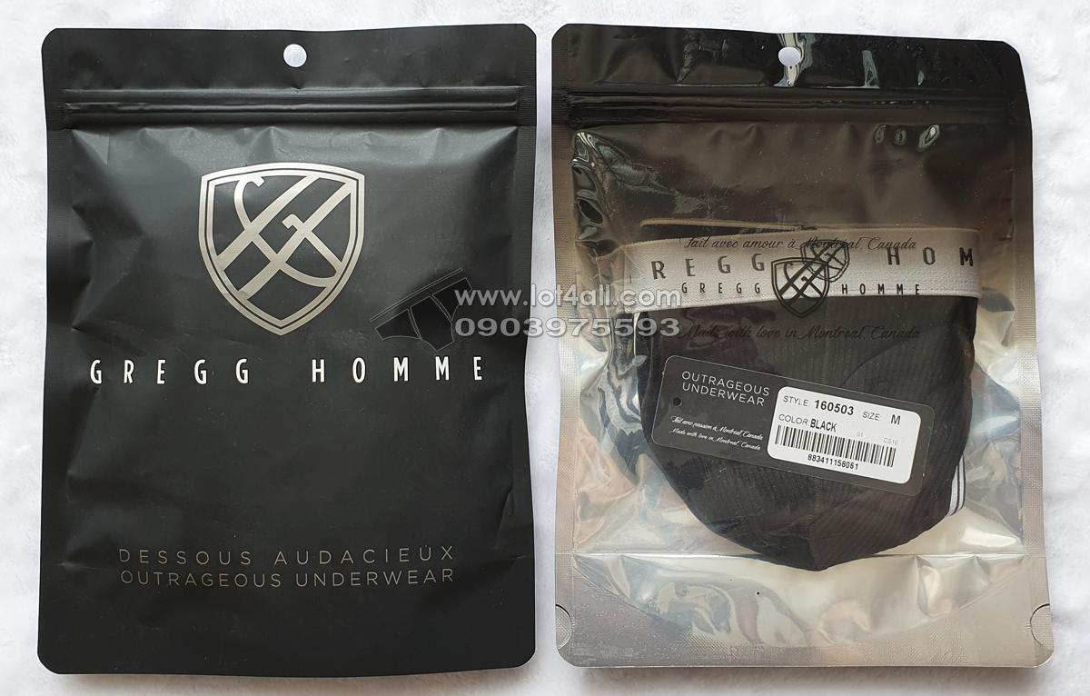 Quần lót nam cao cấp Gregg Homme 160503 Evoke Brief Black