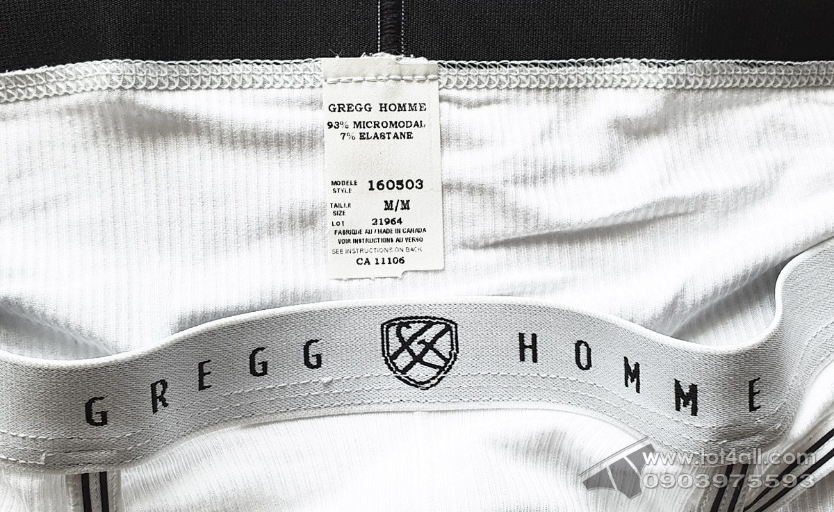 Quần lót nam cao cấp Gregg Homme 160503 Evoke Brief White