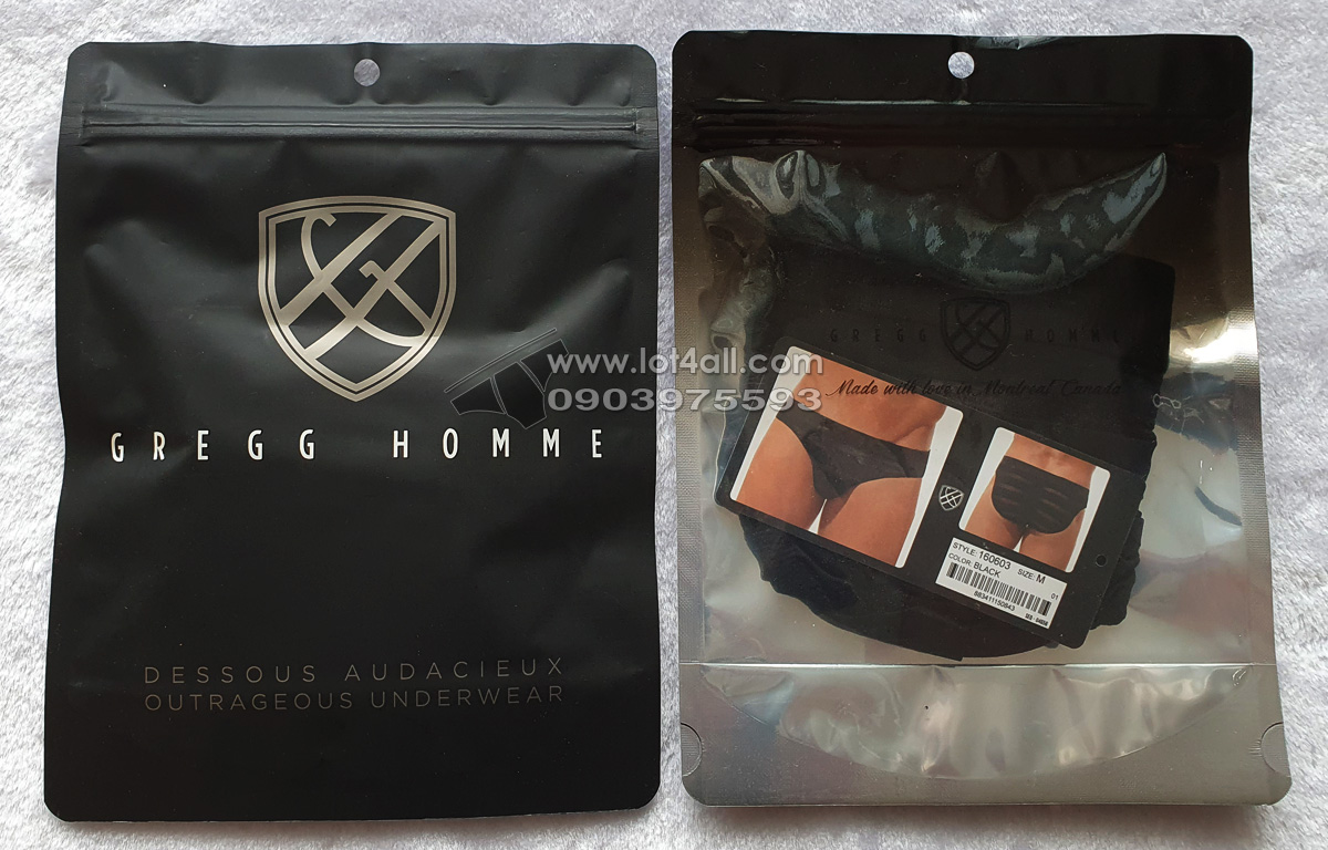 Quần lót nam cao cấp Gregg Homme 160603 Encore+ Brief Black