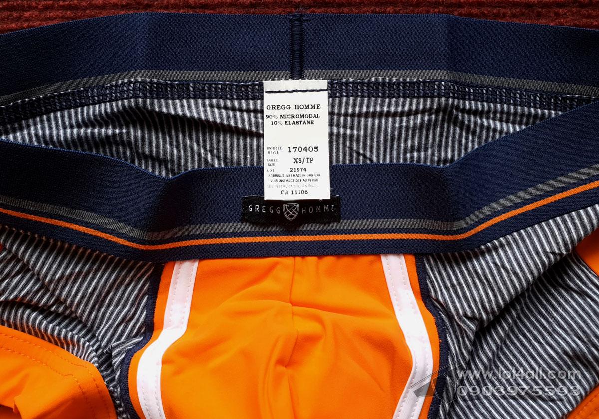 Quần lót nam Gregg Homme 170405 Push Up 3.0 Padded Trunk Orange