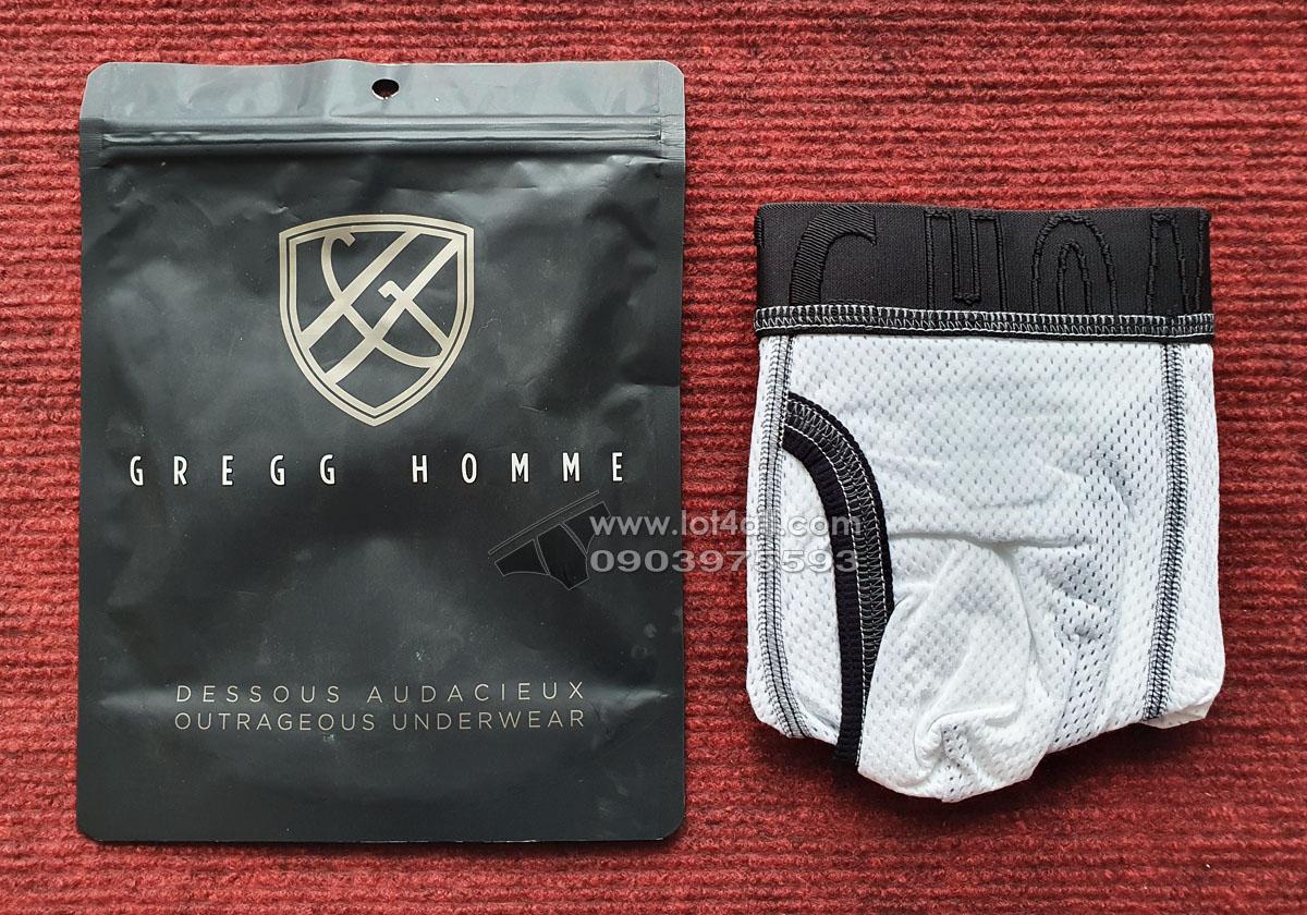 Quần lót nam Gregg Homme 172955 Vintage Boxer Brief White