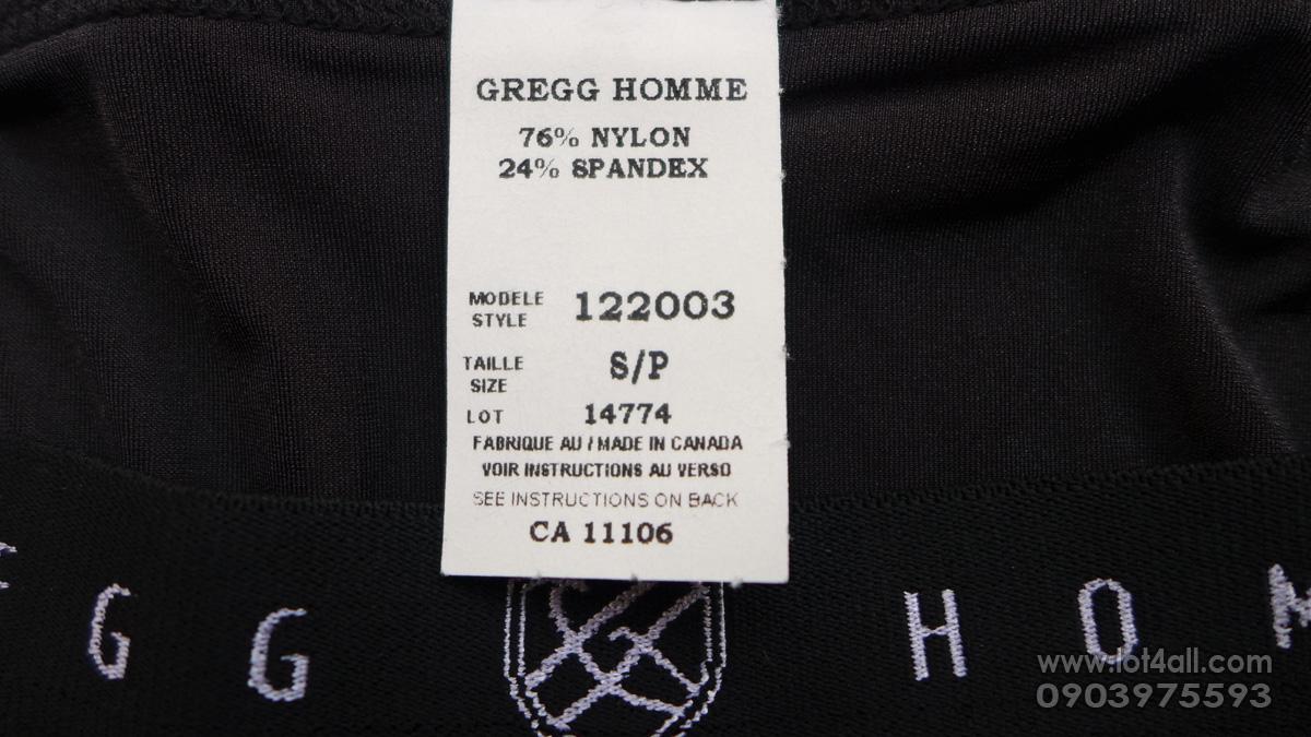 Quần lót nam cao cấp Gregg Homme Fake-It Enhancer Mesh Brief Black/Aqua