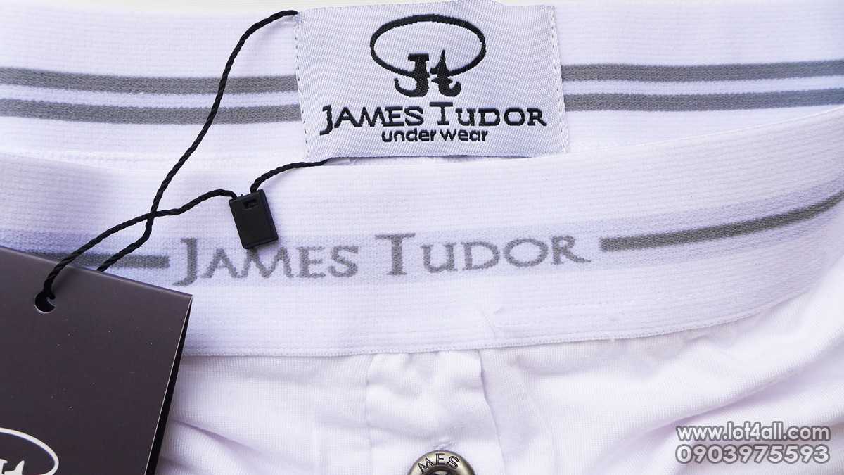 Quần lót nam James Tudor Button Fly Boxer White