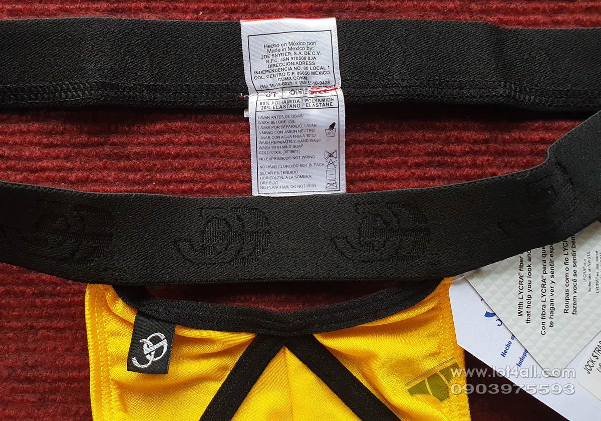Quần lót nam Joe Snyder PF02 Criss-cross Jockstrap Yellow
