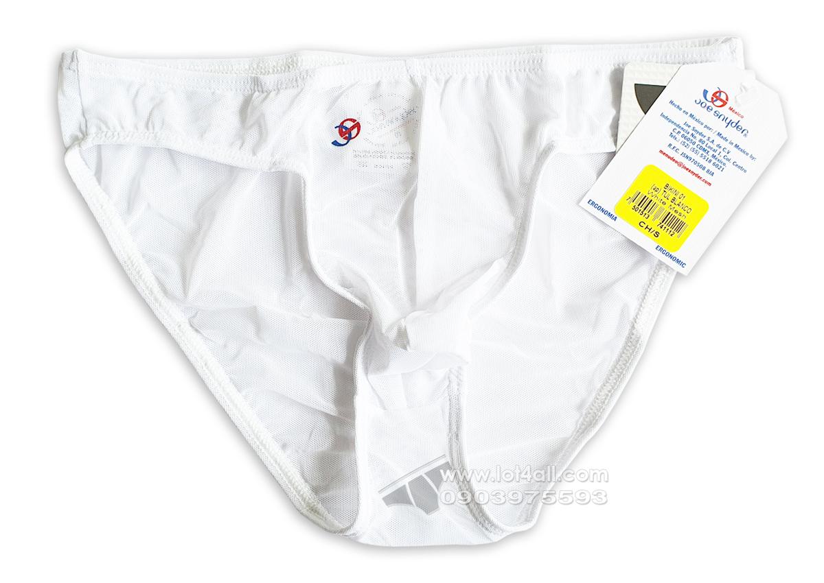 Quần lót nam cao cấp Joe Snyder JS01 Classic Bikini Mesh White