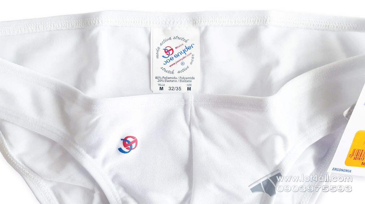 Quần lót nam cao cấp Joe Snyder JS01 Classic Bikini White