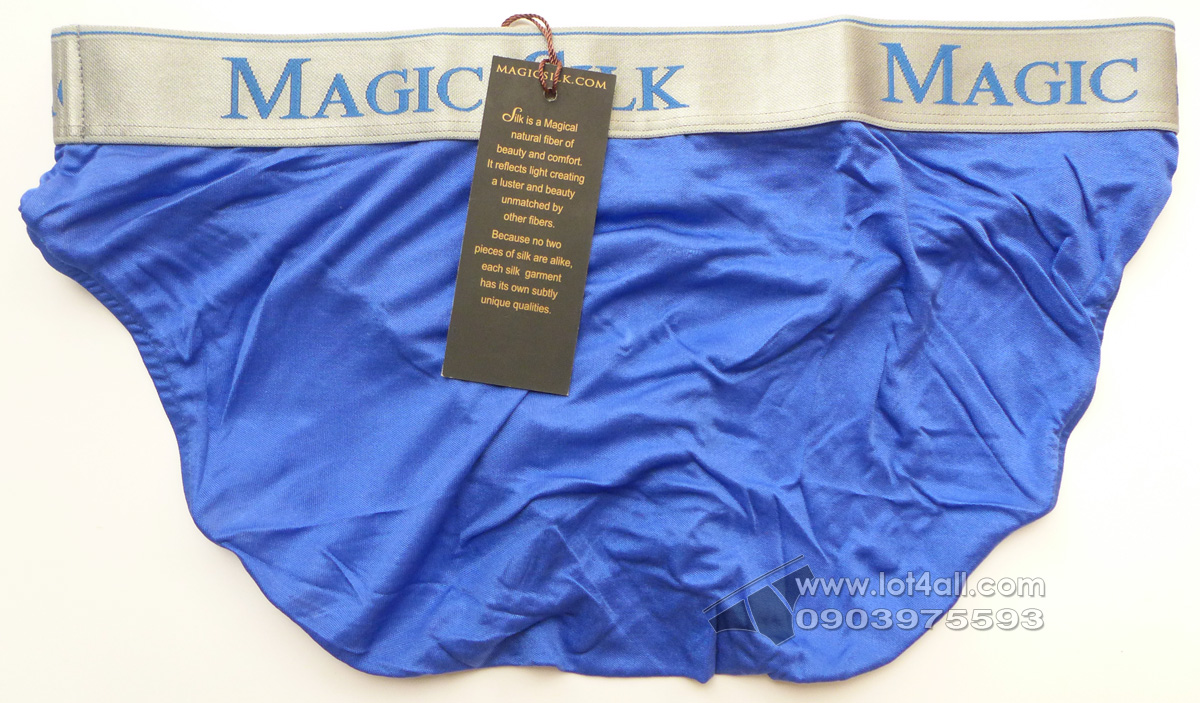 Quần lót nam cao cấp Magic Silk 6386 Silk Low Rise Brief Cobalt