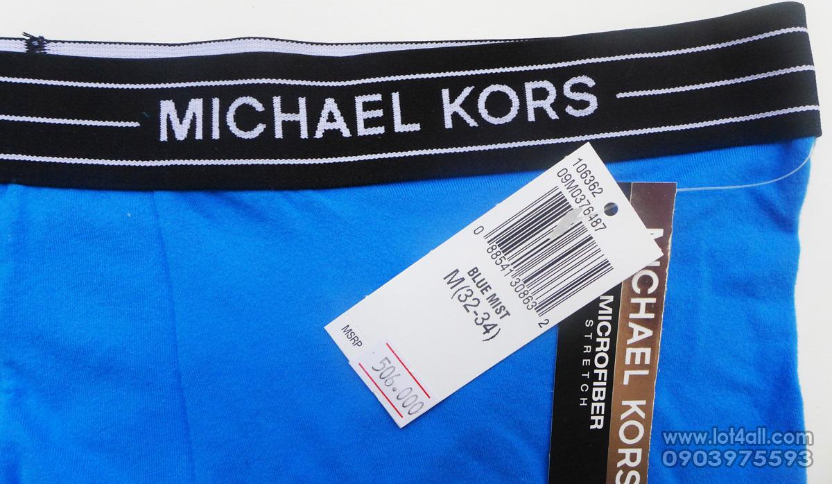 Quần lót nam cao cấp Michael Kors Microfiber Stretch Trunk Blue Mist