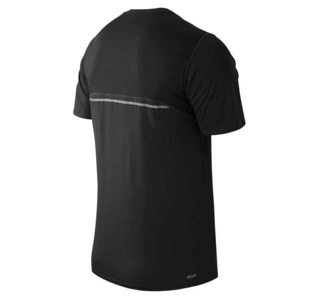 Size áo nam New Balance Accelerate Short Sleeve Shirt Black