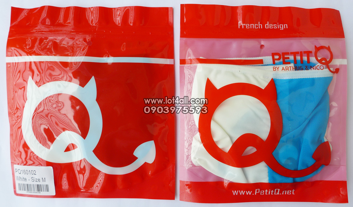Quần lót nam PetitQ PQ160102 Target Bikini White-Blue