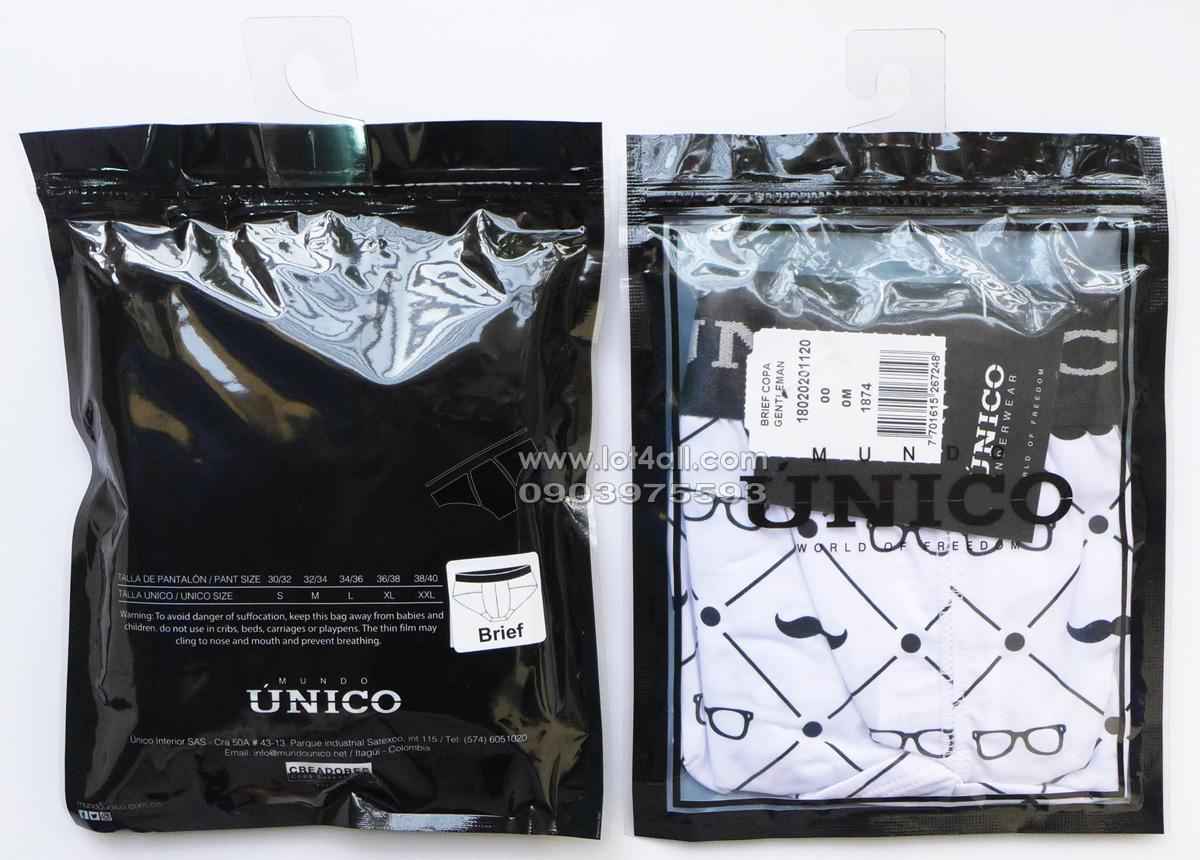 Quần lót nam cao cấp Unico 1802020112000 Gentleman Brief White
