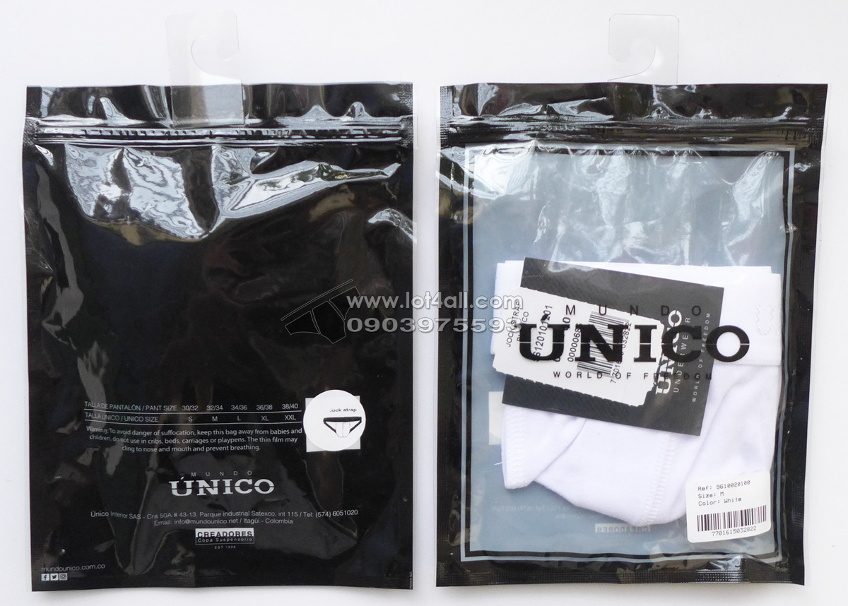 Quần lót nam cao cấp Mundo Unico 9610020100 Jockstrap White