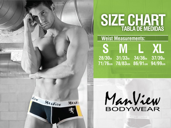 Size chart Manview