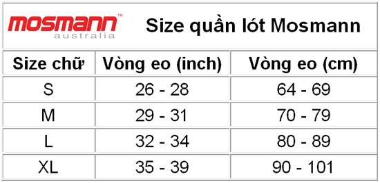 Size chart Mosmann