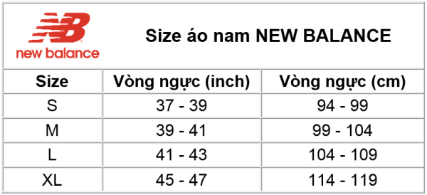 Size áo nam New Balance