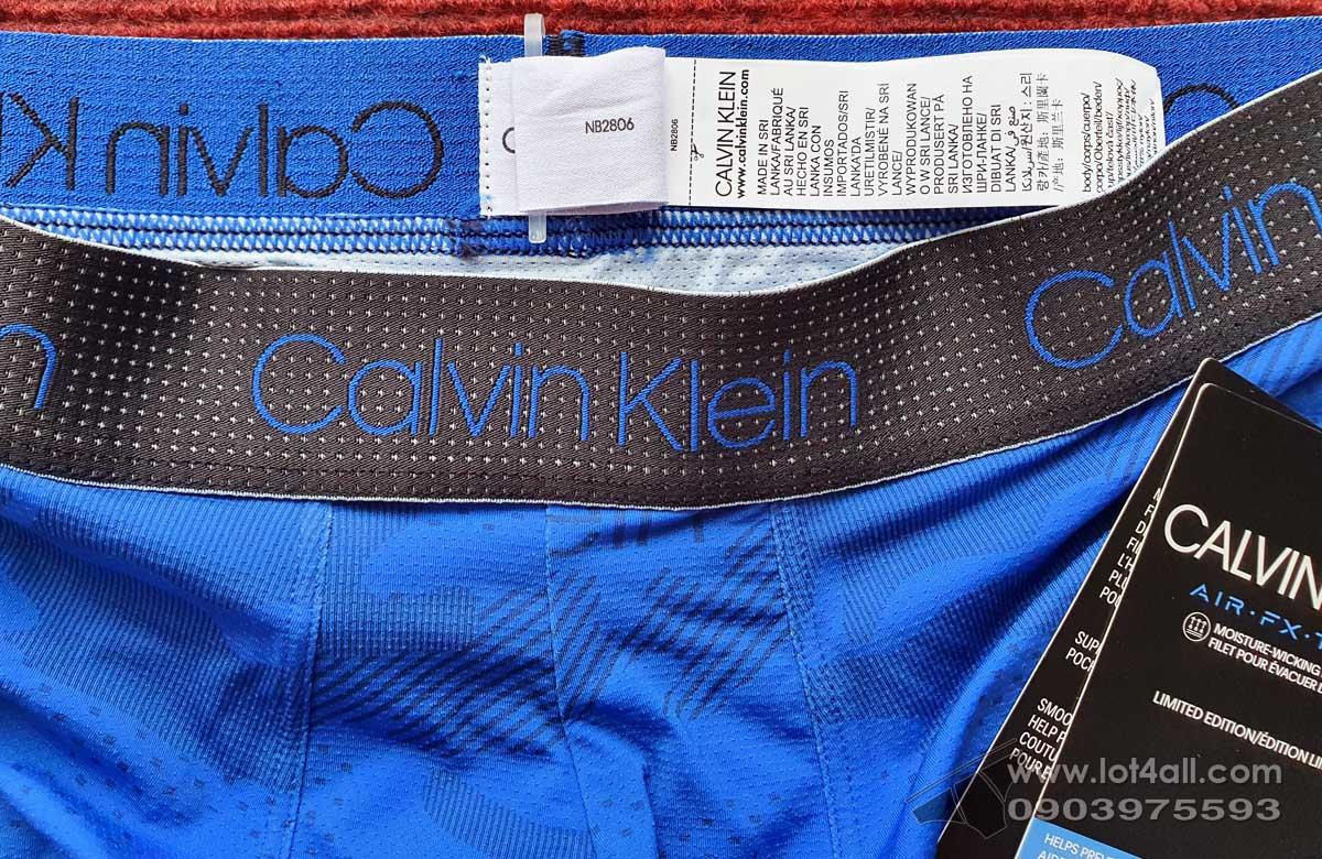 Quần lót nam Calvin Klein NB2806 Air FX Tech Micro Boxer Brief Kettle Blue